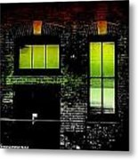 Chicago Brick Facade Glow Metal Print