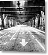 Chicago Wells Street Bridge Picture Metal Print