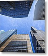 Chicago Buildings Upward View With Willis-sears Tower Metal Print by Paul Velgos