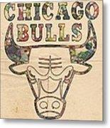 Chicago Bulls Logo Vintage Metal Print