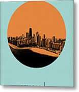 Chicago Circle Poster 2 Metal Print