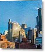 Chicago Cityscape During The Day Metal Print