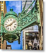 Chicago Clock Hdr Photo Metal Print