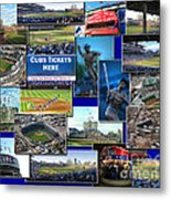 Chicago Cubs Collage Metal Print