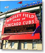 Chicago Cubs Marquee Sign Metal Print