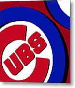 Chicago Cubs Football Metal Print