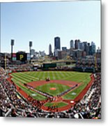 Chicago Cubs V Pittsburgh Pirates Metal Print