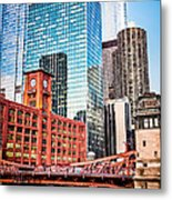 Chicago Downtown At Lasalle Street Bridge Metal Print
