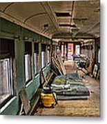 Chicago Eastern Il Rr Car Restoration With Blue Print Metal Print