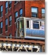 Chicago El And Warehouse Metal Print