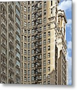 Chicago - Emergency Fire Escape Metal Print by Christine Till