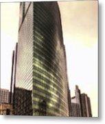 Chicago Facade 333 W Wacker Hdr Metal Print