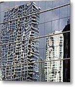 Chicago Facade Reflections Metal Print
