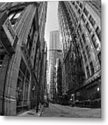 Chicago Fire Escapes Metal Print