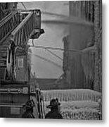 Chicago Firemen Looking On Metal Print