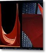 Chicago Flamingo Abstract 01 2 Panel Metal Print