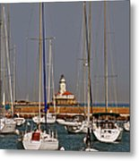 Chicago Harbor Lighthouse Illinois Metal Print by Christine Till