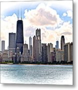Chicago In The Spotlight Metal Print