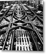 Chicago 'l' Tracks Winter Metal Print