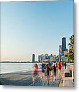 Chicago Lakefront Panorama Metal Print by Steve Gadomski
