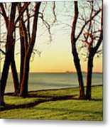 Chicago Lakefront Trail And Lincoln Metal Print