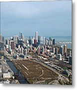 Chicago Looking North 02 Metal Print