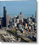 Chicago Looking North 03 Metal Print