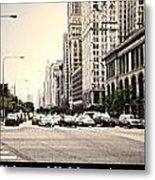 Chicago Michigan Ave Field Museum Art Institute Triptych 3 Panel Metal Print