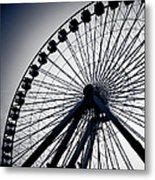 Chicago Navy Pier Ferris Wheel Metal Print