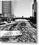 Chicago On Ice By Diana Sainz Metal Print