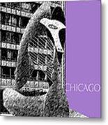 Chicago Pablo Picasso - Violet Metal Print