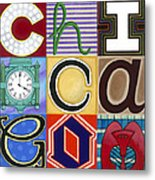 Chicago Picasso Squares Metal Print by Carla Bank
