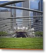 Chicago Pritzker Music Pavillion Triptych 3 Panel Metal Print