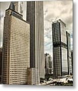Chicago Prudential Towers Metal Print
