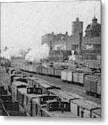 Chicago Railroads, C1893 Metal Print
