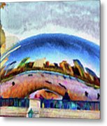 Chicago Reflected Metal Print by Jeff Kolker