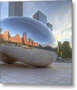 Chicago Reflection Metal Print