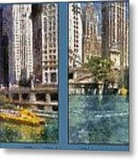 Chicago River 2 Panel Metal Print