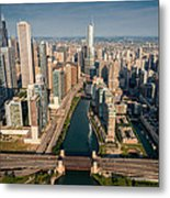 Chicago River Aloft Metal Print