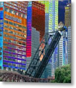Chicago River Architecture Metal Print