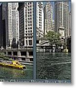 Chicago River Boat Rides 2 Panel Metal Print