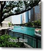 Chicago River Front Metal Print