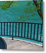 Chicago River Green Metal Print