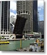 Chicago River Walk Construction Metal Print