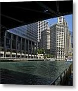 Chicago River Walk Going East 02 Metal Print