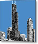 Chicago Sears Tower - Slate Metal Print
