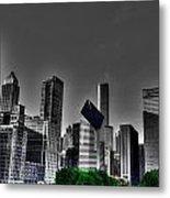 Chicago Skyline 1 Bwc Metal Print