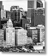 Chicago Skyline Aerial Panorama Photo Metal Print