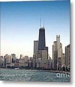 Chicago Skyline And Lake Metal Print
