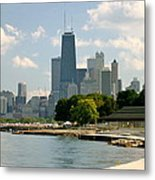 Chicago Skyline And Lakefront Metal Print